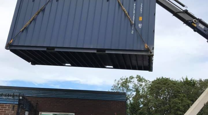 Our New Storage Container Arrives – August 2020