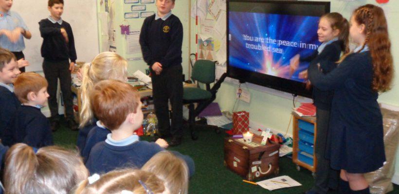 Year 6 Lead Worship Around School – 21st December 2017