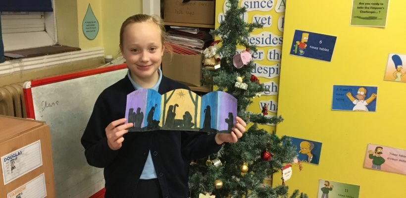 Nativity Cards in Year 5 – December 2018