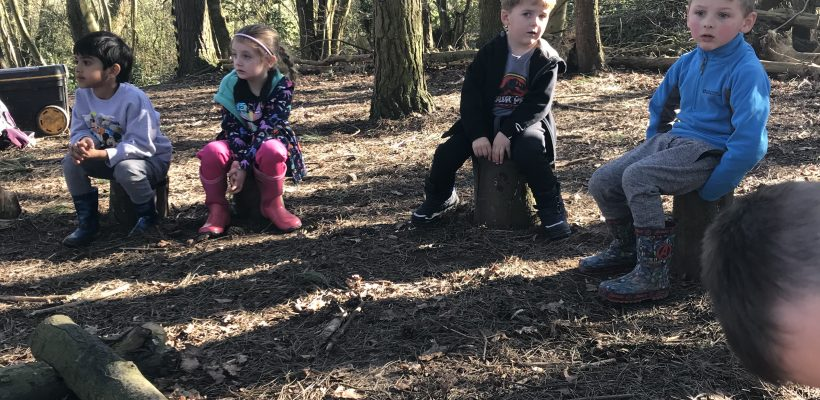 Our Reception Class have their first Forest School Session