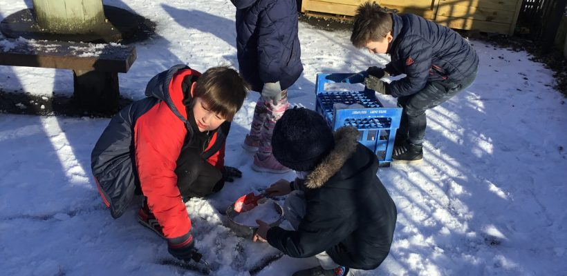 YR and Y1 venture out into the snow – 25th January 2021