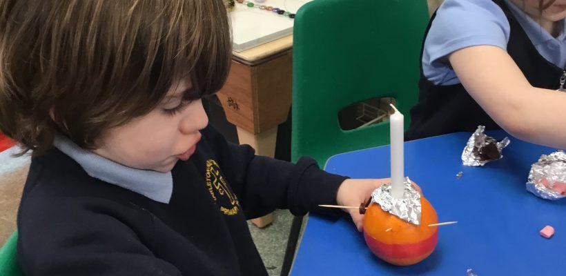 Our Reception Children make their Christingles – December 2020