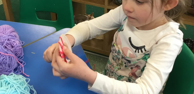 Making Dream Catchers in the YR / Y1 Bubble – February 2021