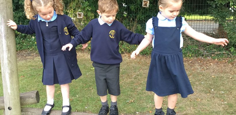 Our New reception Children enjoy playing on the adventure trail… 21st September 2021
