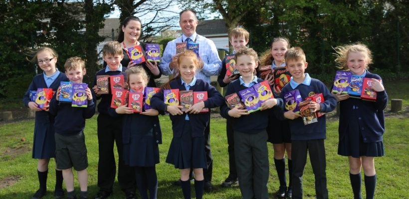 Hulls Donates Easter Eggs to our School Council – 3rd April 2017